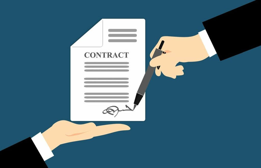 language of the contract